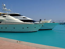 Luxury yachts 04. Luxury yachts berthed at the sekalla port in hurghada Stock Images