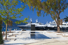 Luxury Yachts Stock Image