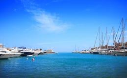 Luxury yachts Stock Image