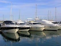 Luxury Yachts. In a Marina in Spain, Mallorca Stock Photos