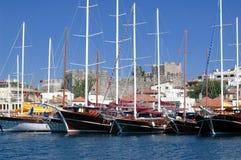 Luxury yachts Stock Images