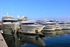 Luxury Yachts. Or boats in a Marina Stock Photography
