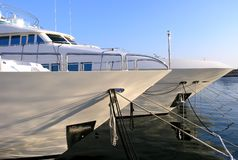 Luxury yachts. Moored in a Marina Stock Images