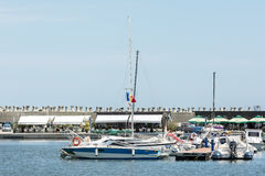 Luxury Yachts And Boats In Port Royalty Free Stock Images