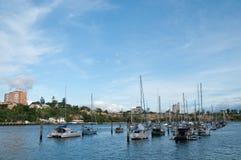 Luxury yachts in Brisbane bay Royalty Free Stock Photos