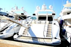 Luxury yachts Stock Images