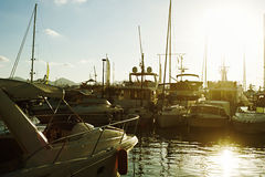 Luxury yachts in Cannes Royalty Free Stock Image