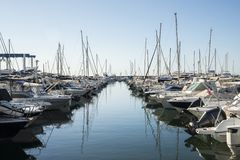 Luxury yachts in Cote d`Azur, France.  royalty free stock photos