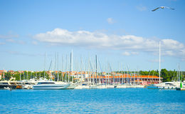 Luxury yachts in  Croatia Royalty Free Stock Photo