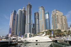 Luxury Yachts at Dubai Marina Royalty Free Stock Photo
