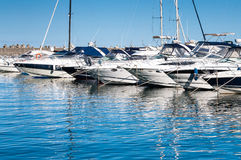 Luxury yachts Royalty Free Stock Photos