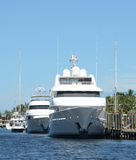 Luxury yachts in Fort Lauderdale, Florida Stock Photo