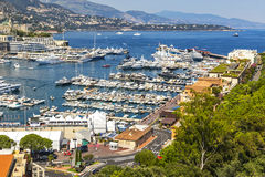 Luxury yachts in harbor of Monte Carlo, Monaco Royalty Free Stock Photography