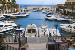 Luxury yachts in Maltese harbour Royalty Free Stock Photography