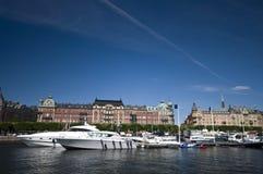Luxury yachts at marina royalty free stock photo