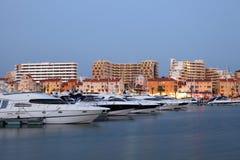 Luxury yachts at the Marina Stock Photo