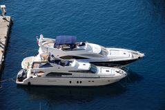 Luxury yachts at marina Royalty Free Stock Image