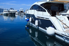 Luxury Yachts in marina Stock Photography