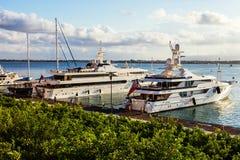 Luxury Yachts in Marina in Ortigia. Sicily Stock Photos