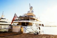 Luxury Yachts in Marina in Ortigia. Sicily Stock Photography