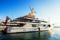 Luxury Yachts in Marina in Ortigia. Sicily Royalty Free Stock Photo