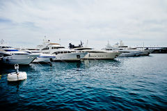 Luxury yachts in Monaco Stock Photography