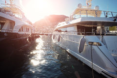 Luxury yachts in Monte Carlo Royalty Free Stock Photography