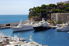 Luxury yachts in Monte Carlo port Stock Image