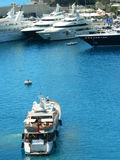 Luxury yachts in Monte Carlo port, Monaco Stock Photo