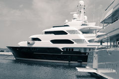 Luxury yachts in port Stock Photography