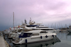 Luxury yachts in port,Cannes France Stock Image