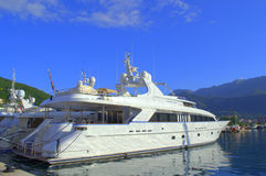 Luxury yachts at port Royalty Free Stock Photos