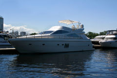 Luxury yachts in the port. Stock Photos