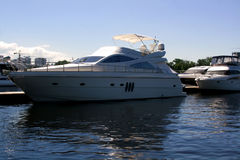 Luxury yachts in the port. Royalty Free Stock Images