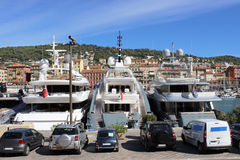 Luxury yachts in the port of Nice Royalty Free Stock Photos
