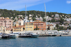 Luxury yachts in the port of Nice Stock Photos