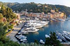 Luxury yachts in the port of Portofino Stock Image