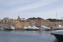 Luxury yachts in the port of saint-tropez Stock Image