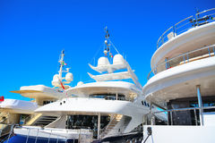 Luxury yachts in Porto Cervo harbor. Sardinia Royalty Free Stock Photography