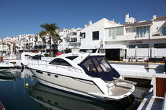 Luxury yachts in Puerto Banus, Spain Royalty Free Stock Photography