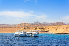 Luxury yachts in the Red Sea Royalty Free Stock Photos