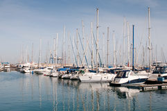 Luxury Yachts resting at Larnaca marina Stock Photos