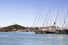 Luxury yachts and sail boats Stock Photography