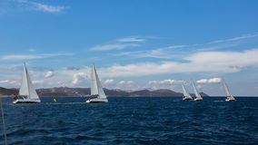 Luxury yachts at Sailing regatta. Stock Images