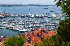 Luxury yachts. Saint Quierre quay. Cannes, France. Stock Image