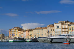 Luxury yachts in Saint Tropez bay Royalty Free Stock Photography