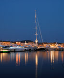 Luxury yachts in Saint Tropez, France Stock Image