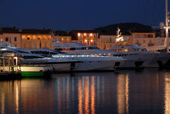 Luxury yachts in Saint Tropez, France Royalty Free Stock Image