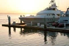 Luxury yachts at sunrise in coronado Royalty Free Stock Images
