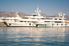 Luxury yachts Stock Photography